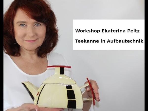 Ekaterina Peitz präsentiert Keramik Workshop Teekanne