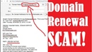 BEWARE Domain Name Search Engine Renewal Notification SCAM