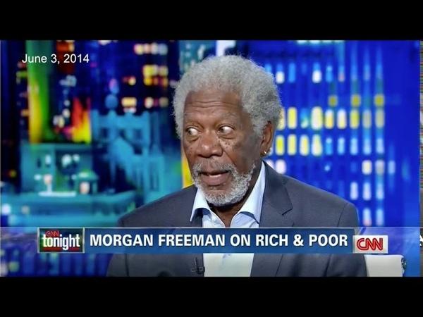 Morgan Freeman Rips Up Burns CNN Host's Race Card