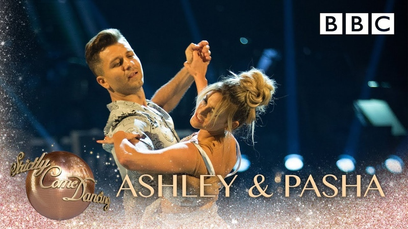 Ashley Roberts Pasha Kovalev dance the Viennese Waltz to Perfect - BBC Strictly 2018