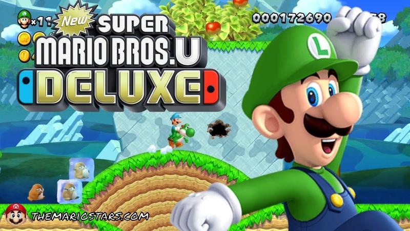 NEW SUPER MARIO BROS U DELUXE Part 1 - Acorn Plains - Gameplay Walkthrough