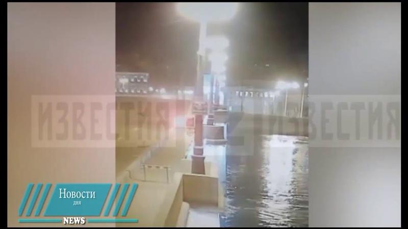 Попытка перелететь разводной мост на авто в Петербурге