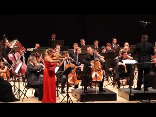 Фрагмент Двойного концерта И.Брамса. Солисты: Мария Солозобова (скрипка), Денис Шаповалов (виолончель). РГСО