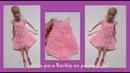 Vestido punto frijol Barbie