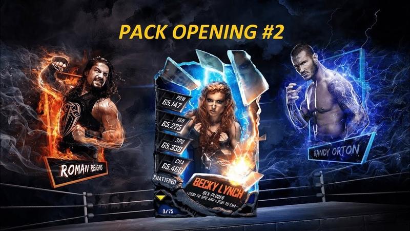 WWE SuperCard Открытие наборов Pack Opening 2
