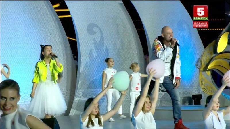 Ксения Галецкая и Дядя Ваня Пламя мира встреча Пламени мира в Минске