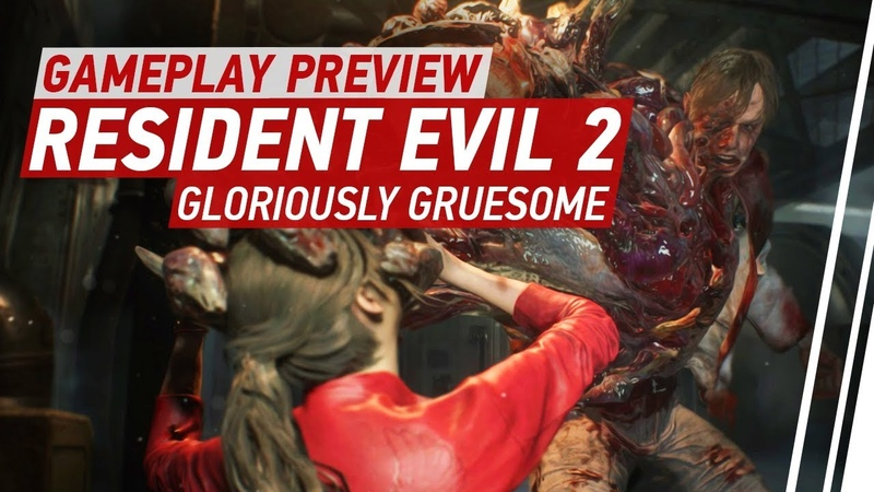 Resident Evil 2 Remake Gameplay 6 Minutes of Claire vs Birkin