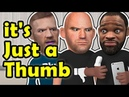 Dana White and Tyron Woodley bad blood continue over a hurt thumb