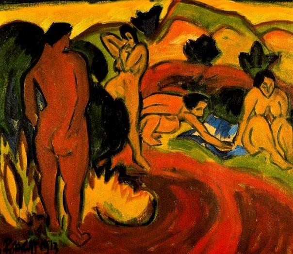 Карл Шмидт-Ротлуф ( 1884-1976) немецкий художник-экспрессионист, один из основателей группы Мост. Купальщики.
