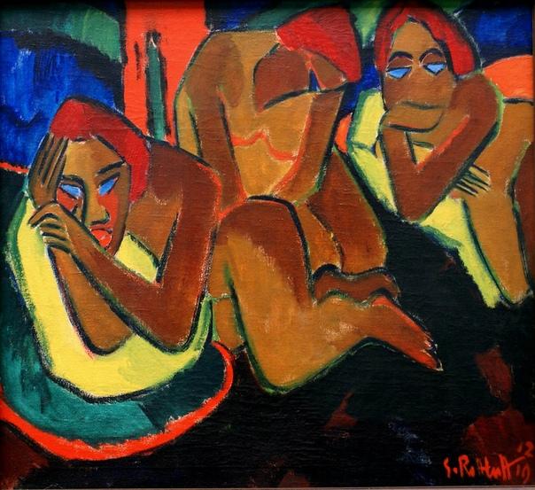 """Карл Шмидт-Ротлуф ( 1884-1976)  немецкий художник-экспрессионист, один из основателей группы """"Мост""""."""