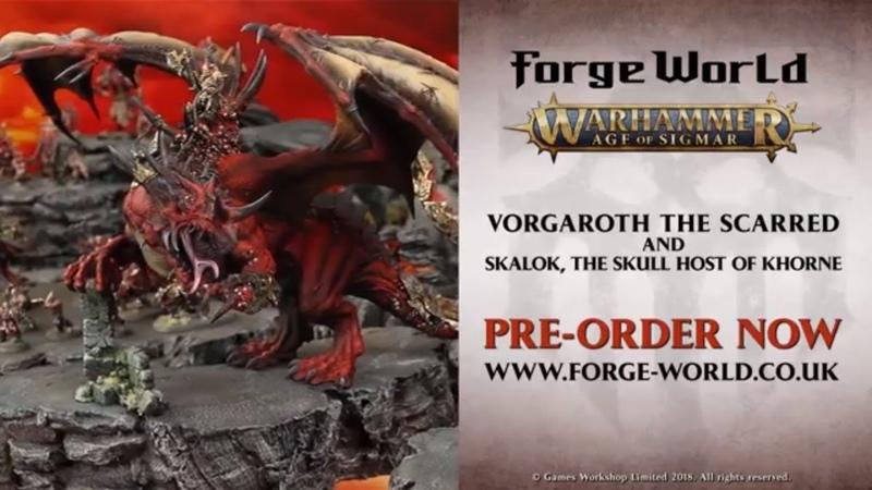 Vorgaroth the Scarred and Skalok, the Skull Host of Khorne - Pre-order Now!