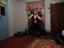 Фронтальный присед с двойными гирями 24 16 и 24 16 (80 кг.) жилет 10 кг.