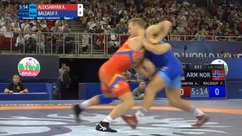 1/8 финала: Артур Алексанян (Армения) - Феликс Балдауф (Норвегия)