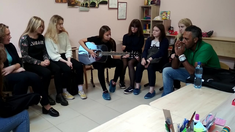 Teens' training with the native speaker