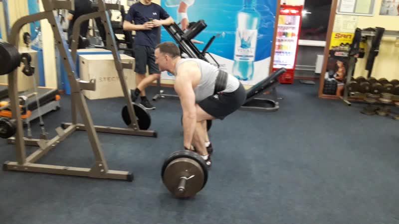 Метелев Александр становая тяга 180 кг