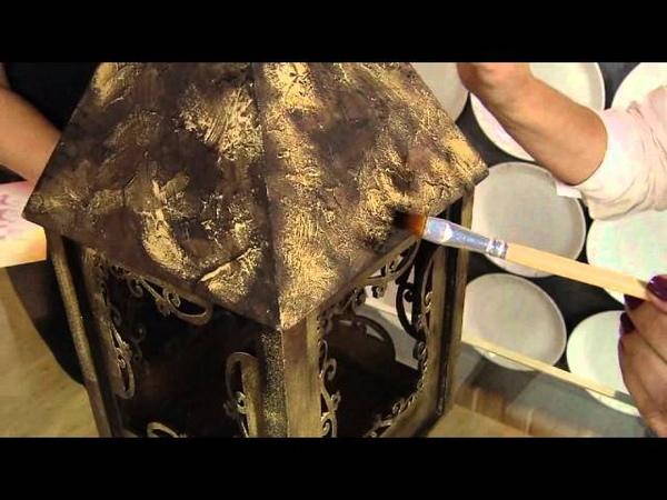 Faça uma luminária utilizando a técnica de pintura em pátina reagente!