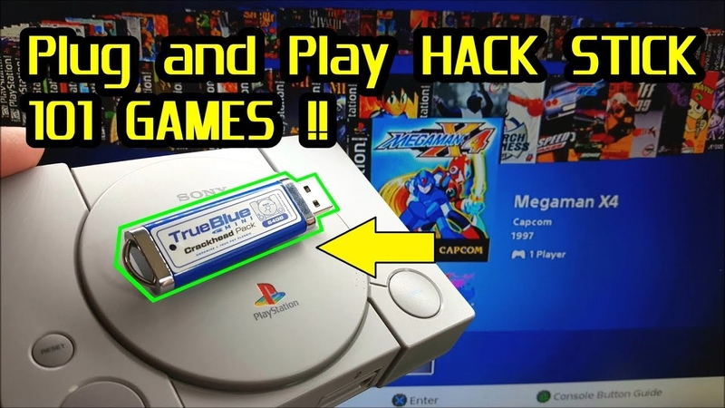 True Blue Mini Hack Stick 101 games for the PlayStation Classic Plug and Play