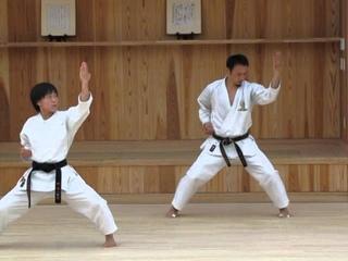 Okamoto-sensei demonstrating kata Empi