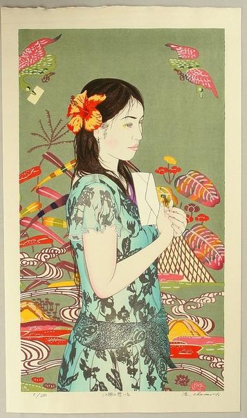 Окамото Рюсэй (Oamoto Ryusei,1949 - ) родился в местечке Муроран на острове Хоккайдо. Его настоящее имя Окамото Йошими (Oamoto Yoshimi). Он заинтересовался гравюрой еще учась в школе, но выбрал
