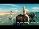 Как делается фотосессия девушек на лошадях в море