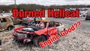 Looking At A Burned, Wrecked 2016 Dodge Hellcat At Copart Salvage Auction Walk Around