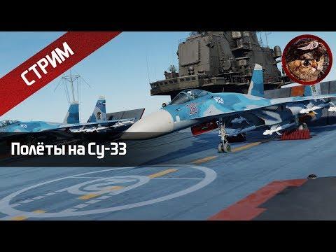Полёты на Су 33 штурмовка DCS World stream WaffenCatLive