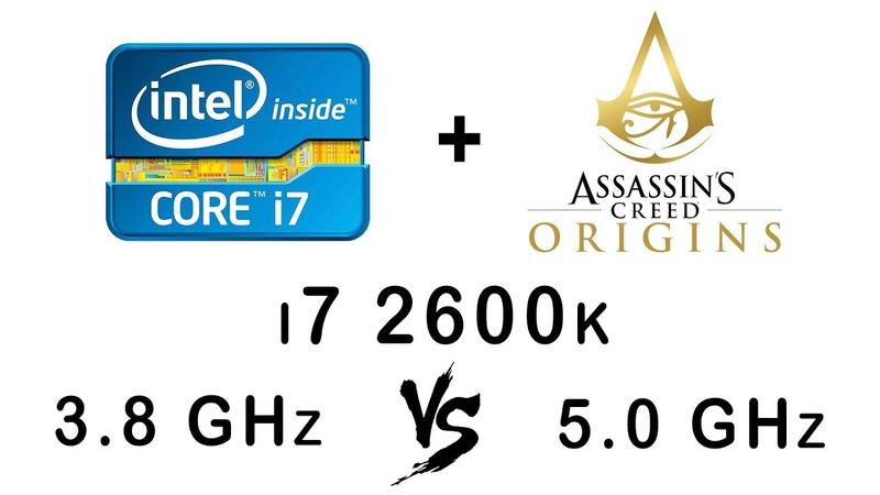 I7 2600k 3.8 vs 5.0 GHz in Assassin's Creed Origins