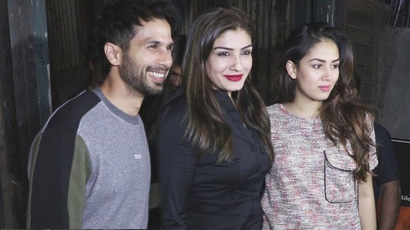 Shahid Kapoor, Mira Rajput And Raveena Tandon Spotted At Palli Village Cafe