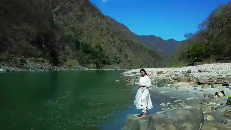 The holy Ganges flows by Rishikesh