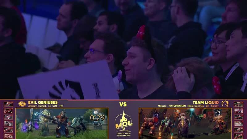 Team Liquid vs Evil Geniuses, MDL Disneyland® Paris Major, bo3, game 1 [JAM Ma