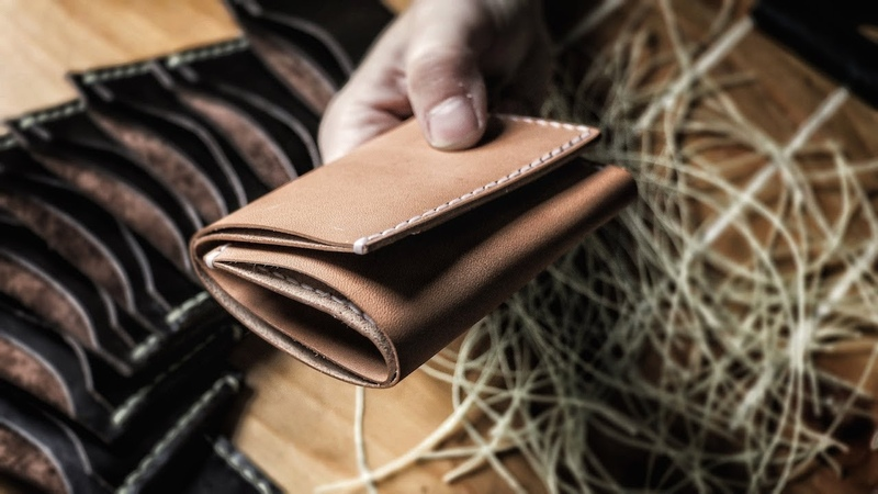 Making a Trifold Leather Wallet