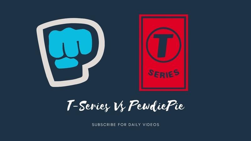 T-Series vs PewdiePie Live subscriber count