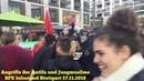 Antifa und junge Muslime greifen BPE Stand am 17.11.2018 in Stuttgart an. Dokumentation.