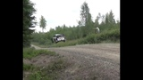 Sebastien Ogier tryes to breake gravity with Ford Fiesta Wrc