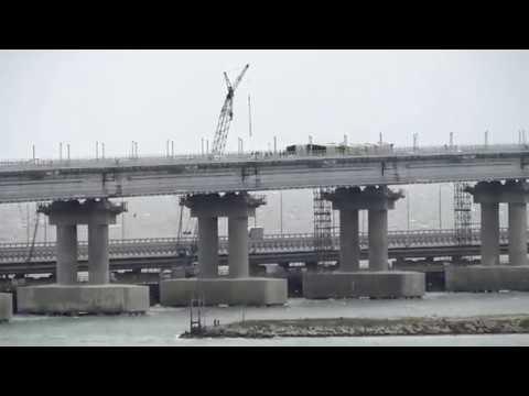 Керченский Мост и немного Керченских подходов к нему.18 04 2019.