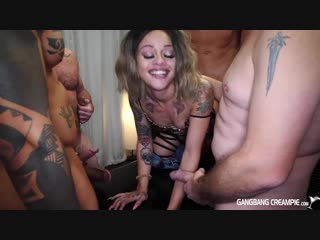 Holly hendrix - gangbang creampie 194 [9 creampies, blowjobs, creampie, creampie eating, cum swallowing, deepthroat, squirting]