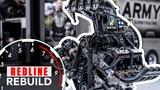 11,000-hp HEMI V-8 engine time-lapse DSRs U.S. Army NHRA Top Fuel dragster Redline Rebuild S2E3