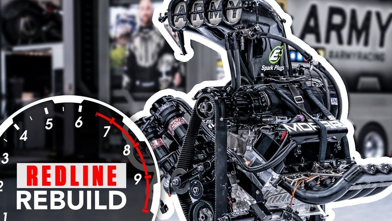 11,000-hp HEMI V-8 engine time-lapse: DSR's U.S. Army NHRA Top Fuel dragster | Redline Rebuild S2E3