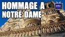 Hommage à notre Dame de Paris ravagée par un incendie
