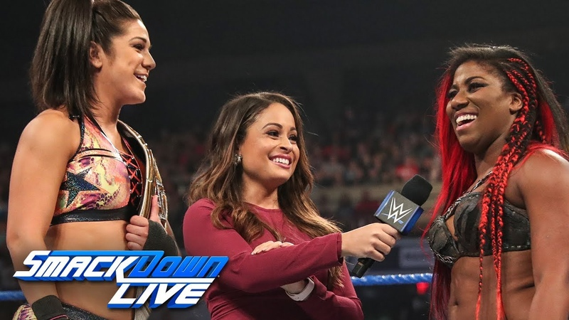 Ember Moon Bayley vs. Mandy Rose Sonya Deville: SmackDown LIVE, July 16, 2019