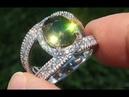 FLASH EFFECT Near Flawless VVS Natural GIA CERTIFIED Demantoid Garnet Diamond 18k Ring - A141468