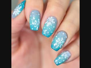 Frozen nails ❄️🌬