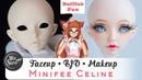 BJD Роспись куклы минифи Селин мейкап / фейсап БЖД BJD OOAK minifee Celine урок от WillStore