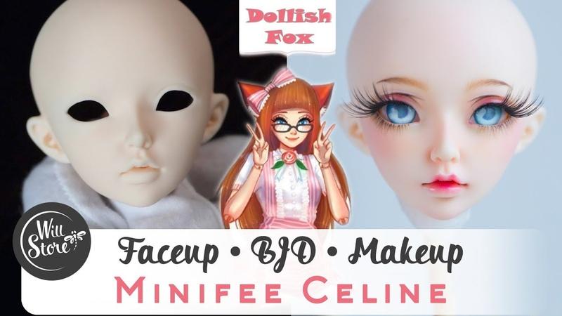 [BJD] Роспись куклы минифи Селин мейкап / фейсап [БЖД] BJD OOAK minifee Celine урок от WillStore