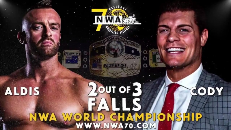 A special message from RealNickAldis Sunday Oct 21st Nashville, TN @nwa NWA70 The Rematch of the year @CodyRhodes vs Aldis 2 Ava