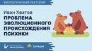 Биолекторий Проблема эволюционного происхождения психики – Иван Хватов
