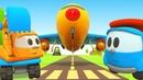 Leo the truck - Kids' Cars Build an Airplane. A Plane Cartoon