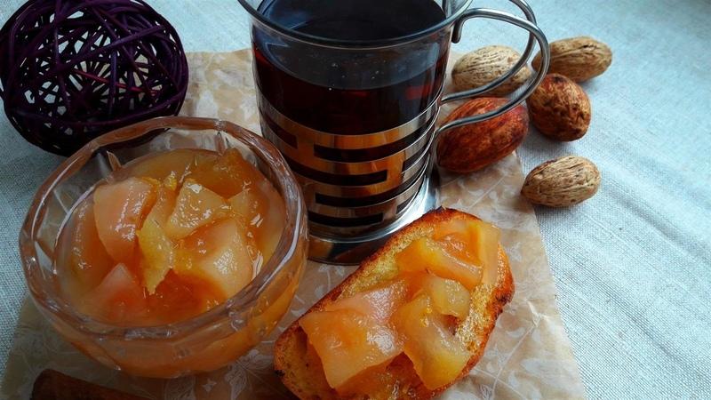 Вкусный грушевый конфитюр Конфитюр из груш с лимоном имбирем розмарином Pear jam with lemon