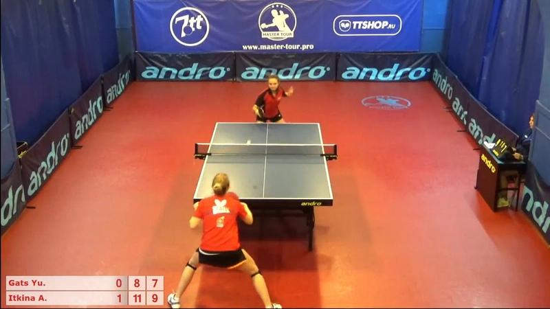 Настольный теннис матч 270918 8 Гац Юлия Иткина Анастасия
