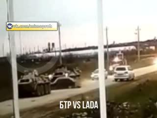 БТР VS ВАЗ 2114 Лада Дагестан